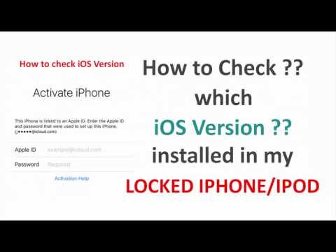 How to check iOS version in a locked apple iphone or ipod