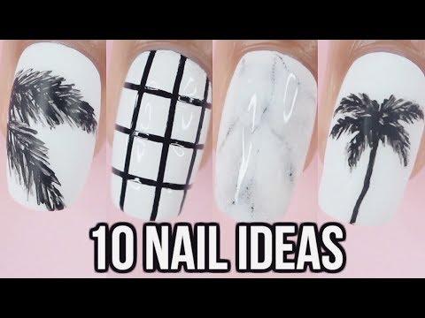 10 Black & White Nail Art Designs