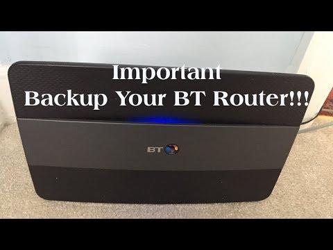 BT Smart Hub  -  Backing up/Restoring Router
