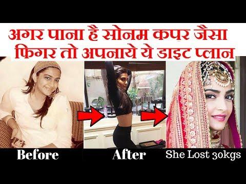 अगर पाना है सोनम कपूर जैसा फिगर तो अपनाये ये डाइट प्लान Sonam Kapoor Diet Plan for weight loss
