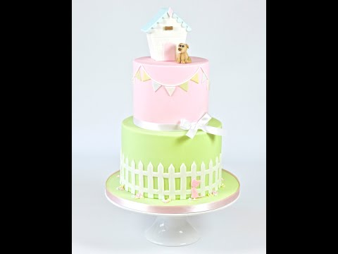 How to use the FMM Picket Fence Cutter to make a fondant picket fence tutorial