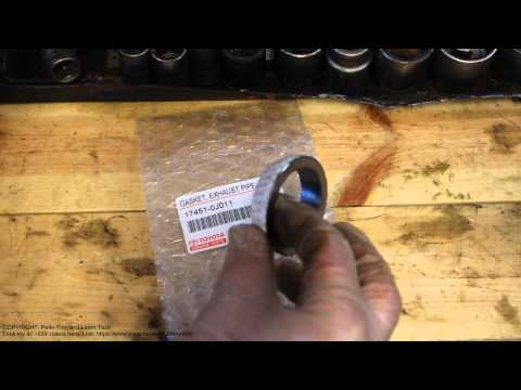 How to fix gasket leak in exhaust pipe Toyota car