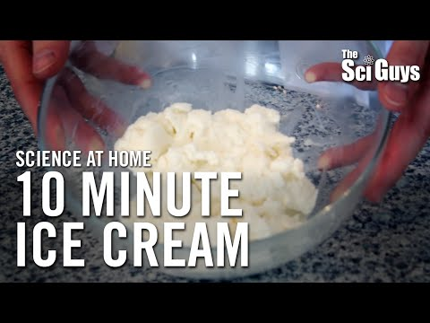 The Sci Guys: Science at Home - SE1 - EP10: Melting Points: Ice Cream in a Bag - 10 Minute Ice Cream