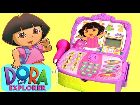 DORA the Explorer Cash Register Supermarket Toy Surprise Disney Frozen, Paw Patrol Mashems Aladdin