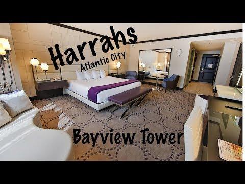 Harrahs Atlantic City Bayview Renvated Room Walkthough