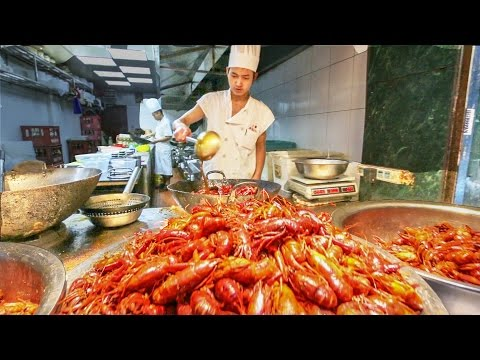 Chinese Street Food Tour in Shanghai, China   Street Food in China BEST Seafood