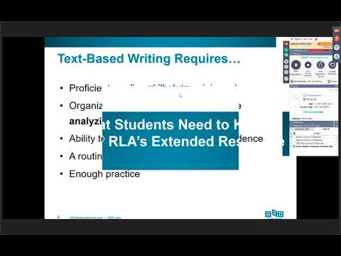 What Students Need to Know GED's RLA Extended Response