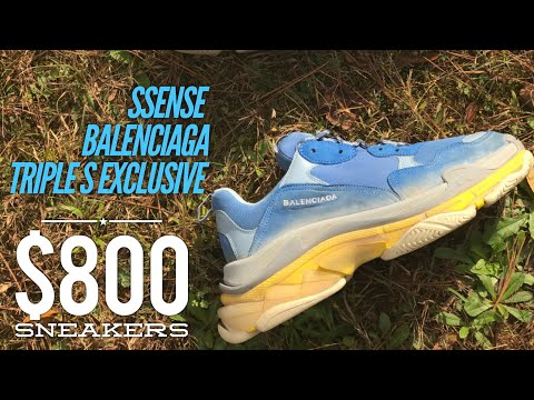 SSENSE Balenciaga Triple S EXCLUSIVE !!! R U Paying $800 For These Designer Shoes @air_trafficking
