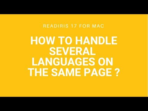 Readiris 17 Mac: Several languages on the same page