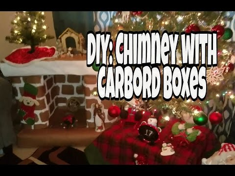 DIY: Chimney out of Boxes (carboard)