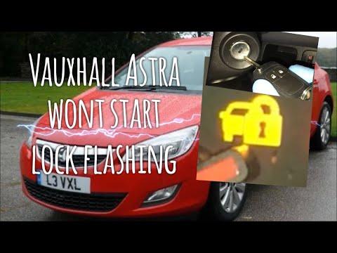 """Vauxhall Opel Astra Lock Warning Light """"Won't Start"""" How To Repair"""