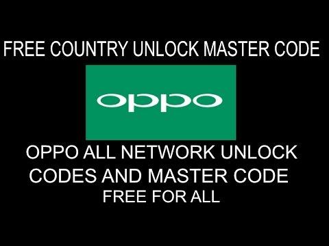 All Oppo Network Unlock Code - Remove Network Lock On Oppo Phones Using Master Code Free