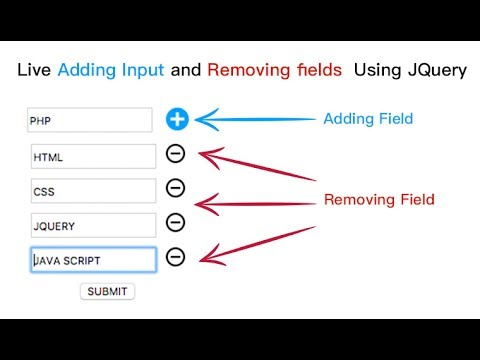 Live Adding Input and Removing fields Using JQuery