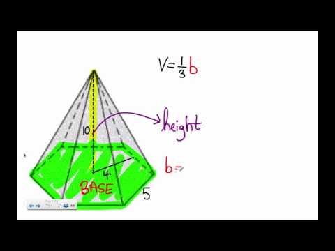 Polygon Pyramid (Hexagon / pentagon) Volume Problem