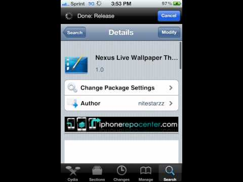How to Get Nexus Live Wallpaper For iPhone & iPod Touch