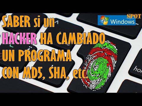 Ver si un hacker ha cambiado un programa con MD5, SHA, CRC32
