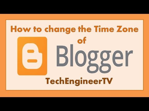 How to change the Time Zone of Blogger ?