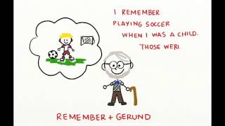 Verb + Gerund, Infinitive (Stop, Remember, Forget)