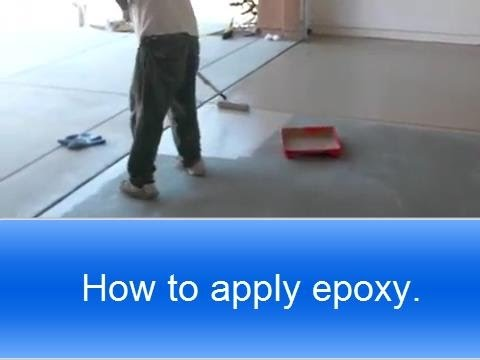How to apply Rust Oleum garage floor epoxy.