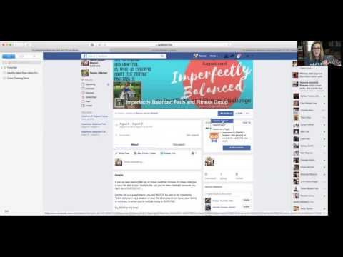 Creating a FB Event and Using it to Promote Your Challenge Group this Month