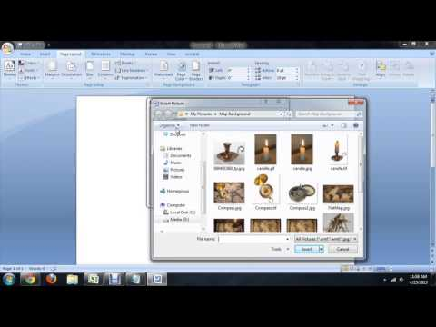 How to Insert a Background in Microsoft Word 2007 : Tech Niche