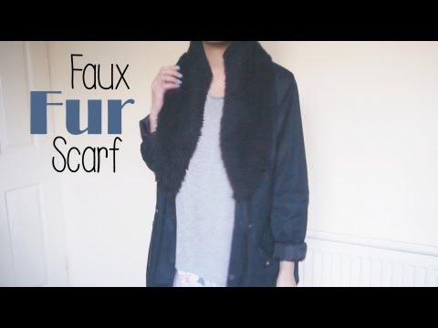 DIY ✂ How to make a faux fur stole/scarf