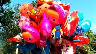 Caráter de balões de brinquedos  Masha, Boboiboy, UpinIpin, Doraemon, Spongebob, Pokemon