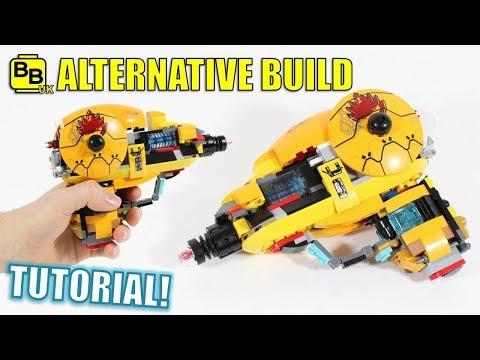 LEGO SPACE RAY GUN 76080 SET ALTERNATIVE BUILD!