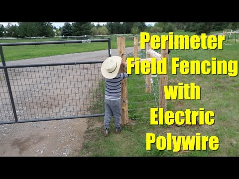 Perimeter Field Fencing with Electric Polywire