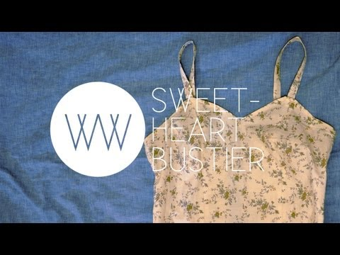 How to Make a Sweetheart Bustier Tank | WITHWENDY