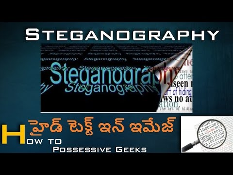 HIDE YOUR TEXT BEHIND IMAGE IN TELUGU- STEGANOGRAPHY