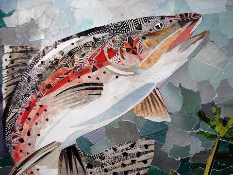 Fish paper collage
