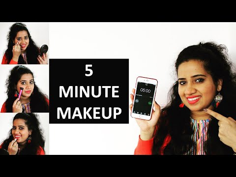 5 MINUTE MAKEUP | QUICK MAKEUP | 5 मिनट में मेकअप | Happy Pink Studio