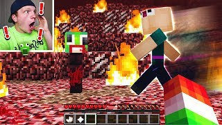 CHASING ASWDFZXC IN MINECRAFT! *DO NOT ATTEMPT*