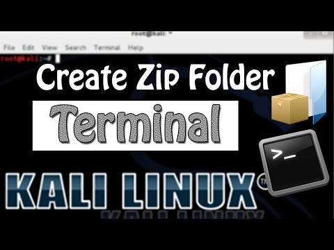 How to Create Zip Folder in Kali Linux using Terminal