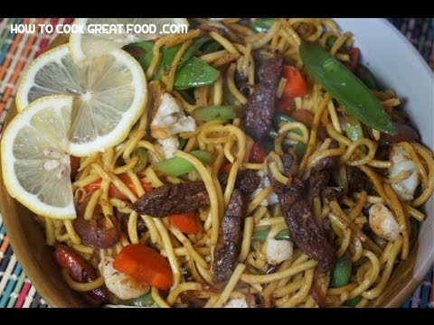 Beef Chow Mein Recipe - Chinese wok noodle stir fry