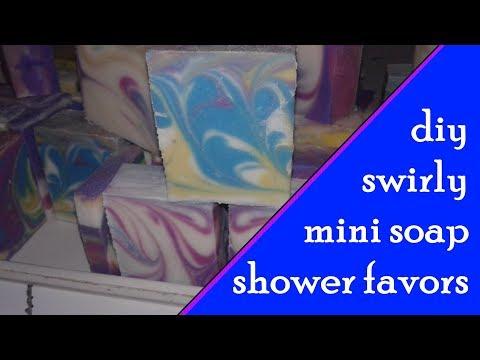 How to Make Soap Shower Favors | Cold Process Mini Soaps | Citrus Splash Swirls