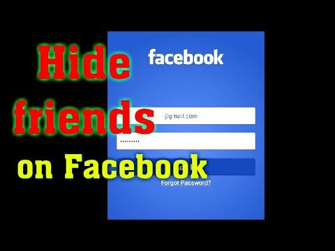 How to hide Facebook friends list in mobile 📱 App?