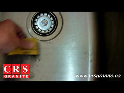 Granite Countertops by CRS Granite - How to Remove Sink Scratches