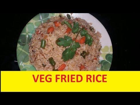 Veg fried rice / Vegetable fried rice in Kannada