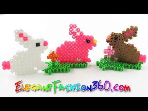 DIY Perler Beads Bunny - How to Tutorial Easter Hama Beads Creations