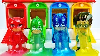 Learn Colors With Pj Masks Slime & Squishy Eggs #lulupoptv