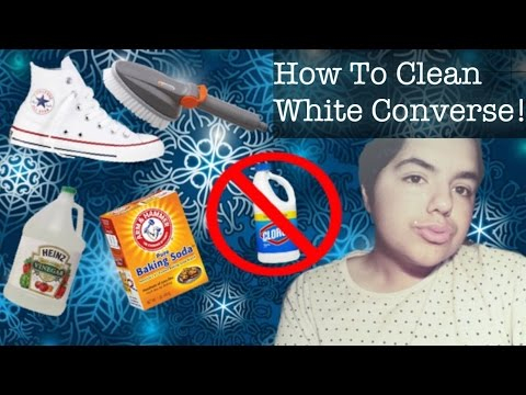 HOW TO CLEAN WHITE CONVERSE!!!