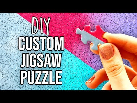 HOW TO MAKE A DIY GRADIENT JIGSAW PUZZLE   @karenkavett