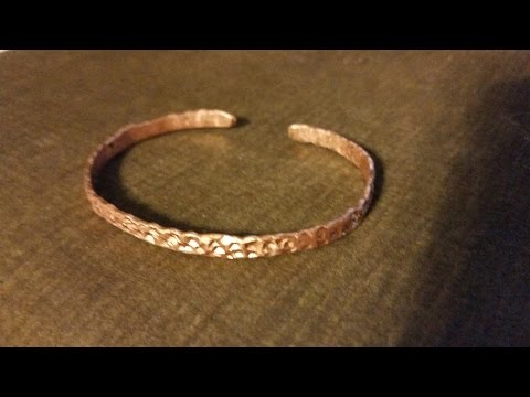 DIY - Day 6 - Textured copper bracelet from copper ground wire