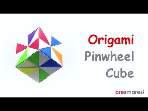 Origami Pinwheel Cube (easy - modular)