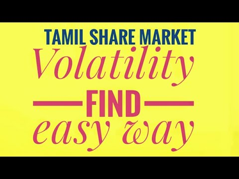 VOLATILITY find in all stocks easy way