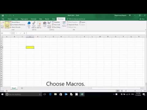 Change shortcut key for macro Excel 2016