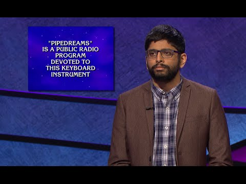 Contestant answers question about 'Pipedreams' on 'Jeopardy!'