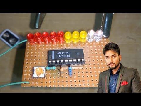 Battery Level indicator circuit diagram using LM3914